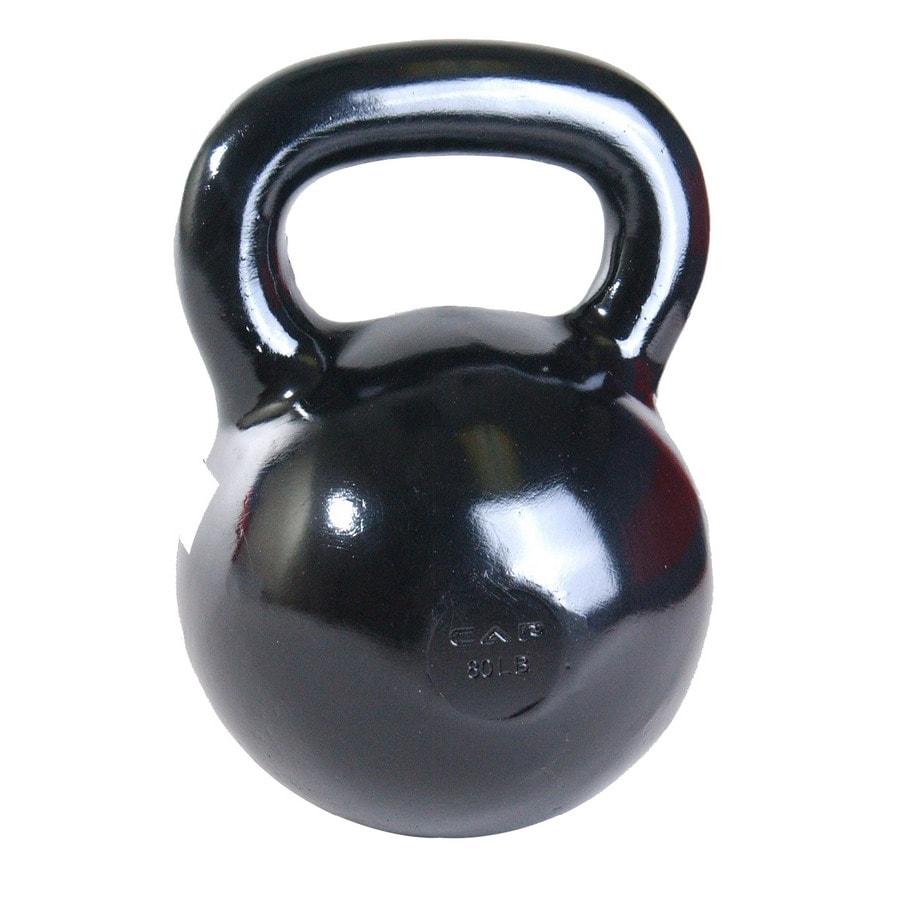 CAP Black 80 lbs Fixed-Weight Kettlebell
