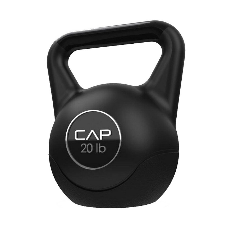 CAP Black 20 lbs Fixed-Weight Kettlebell