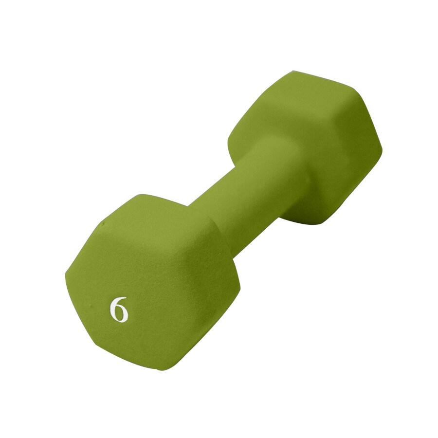 CAP 6-lb Green Fixed-Weight Dumbbell