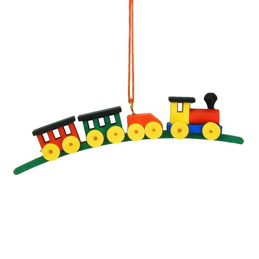 Alexander Taron Multicolor Train Ornament