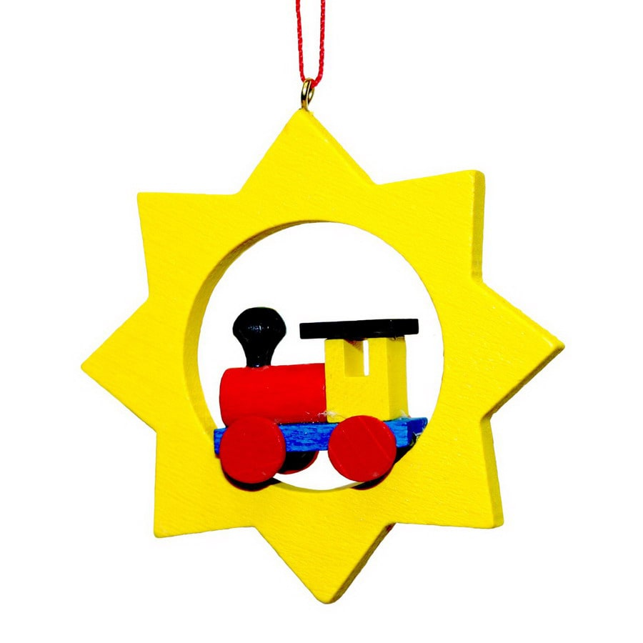 Alexander Taron Multicolor Star with Train Christmas