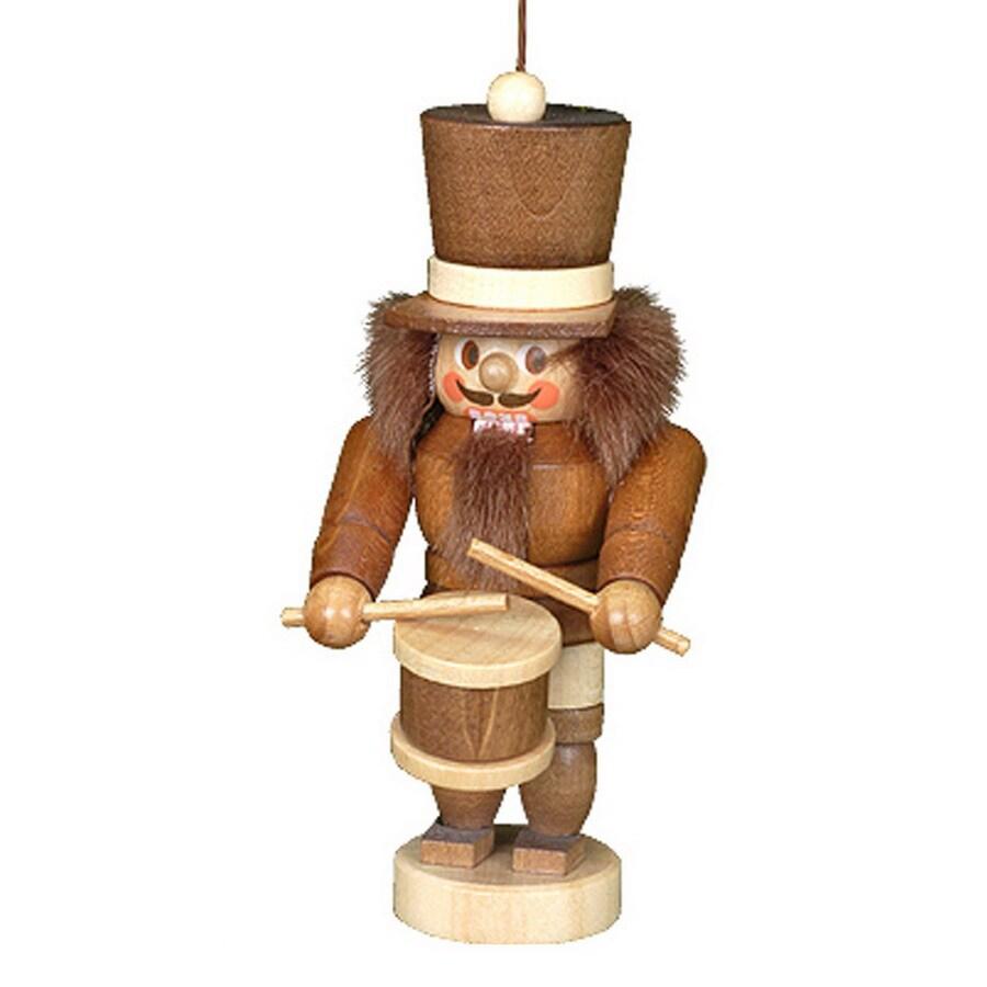Alexander Taron Natural Wood Drummer Nutcracker Ornament