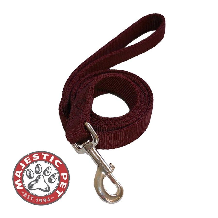 Majestic Pets Burgundy Nylon Dog Leash