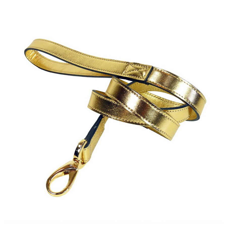 Hartman & Rose Pure Gold Leather Dog Leash