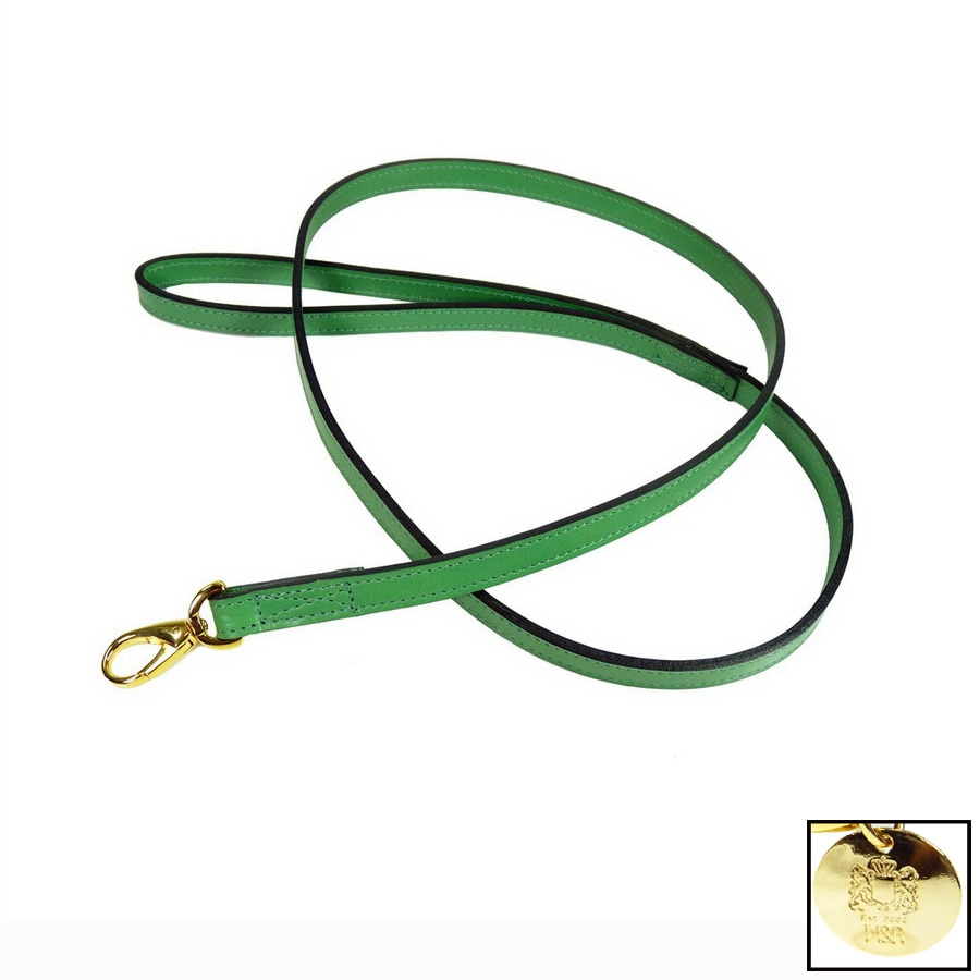 Hartman & Rose Emerald Green Leather Dog Leash