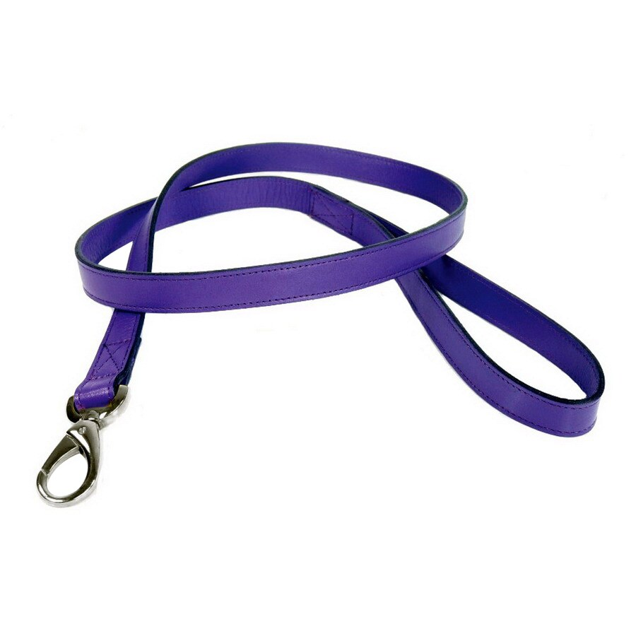 Hartman & Rose Lavender Purple Leather Dog Leash