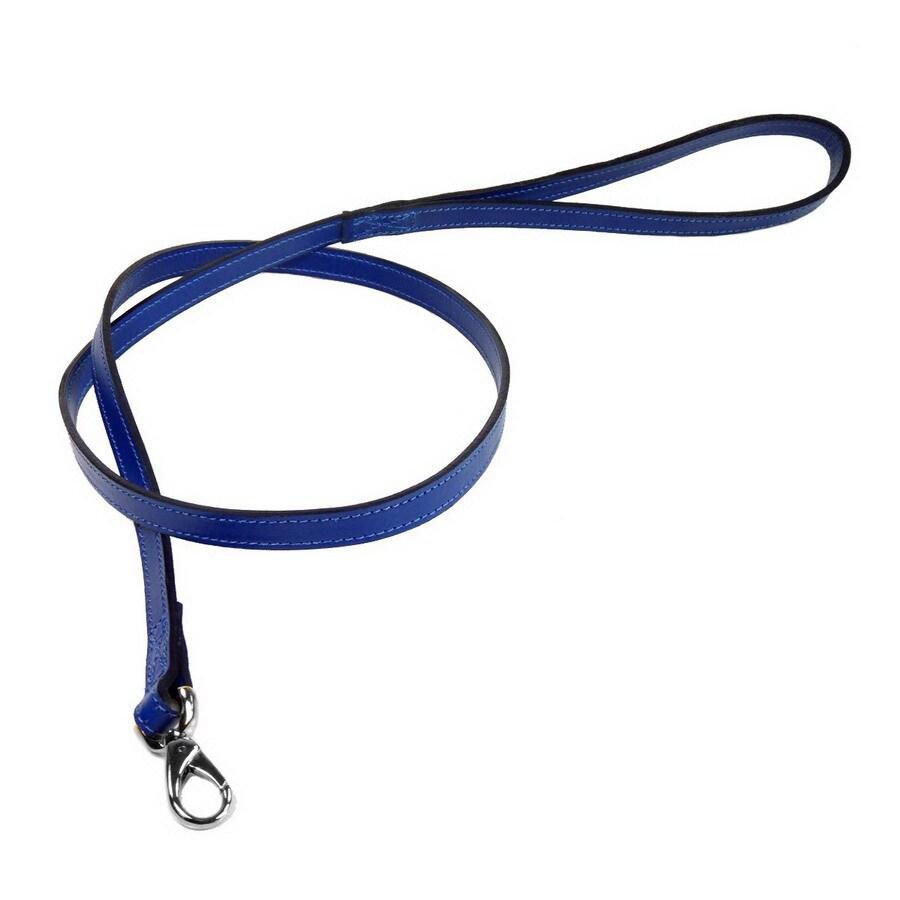 Hartman & Rose Cobalt Blue Leather Dog Leash