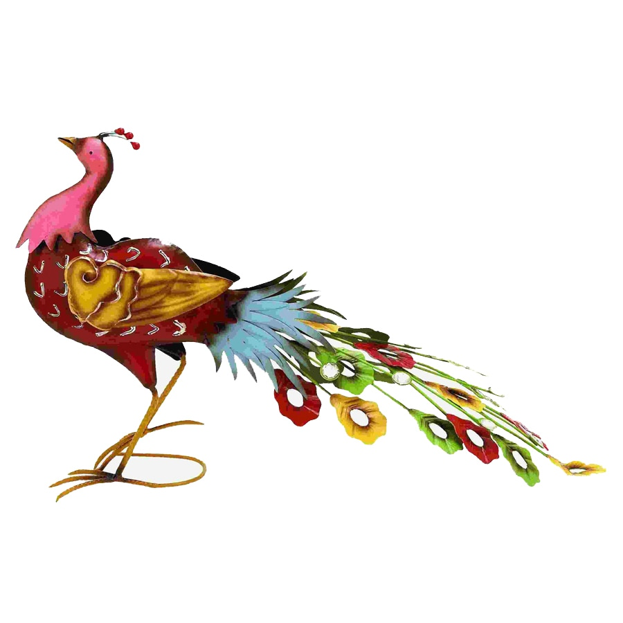 Woodland Imports 17-in H Outdoor Peacock Garden Statue