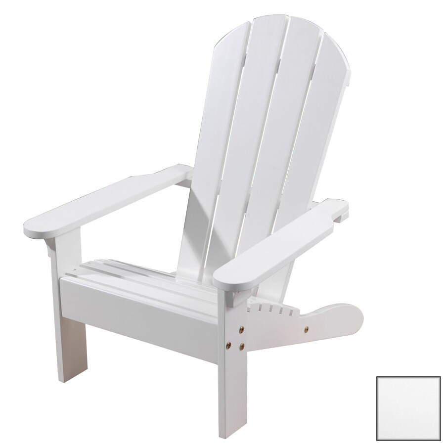 KidKraft White Wood Adirondack Chair