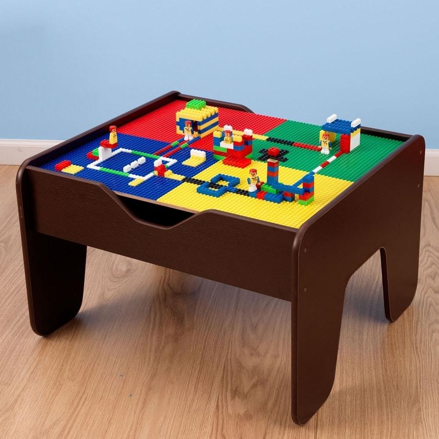 Shop Kidkraft Espresso 2 In 1 Activity Table With Lego