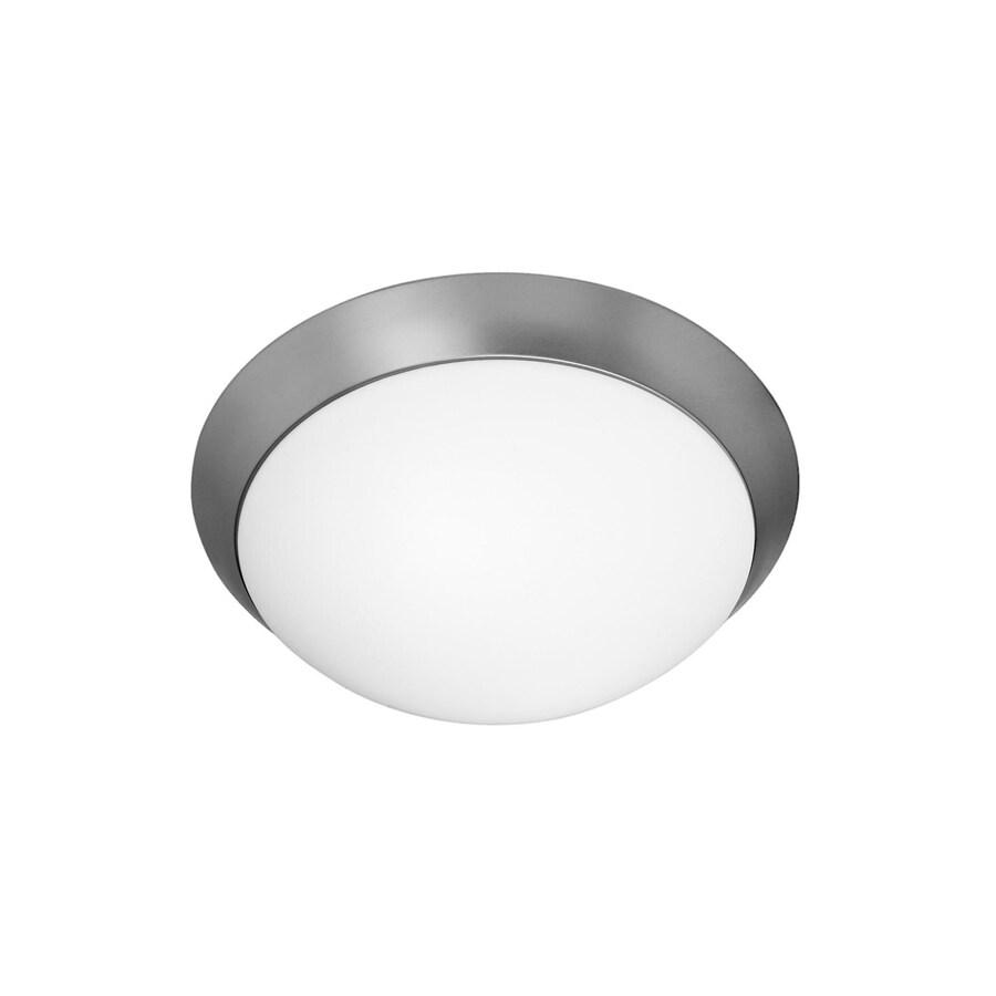 Access Lighting Cobalt 11-in W Brushed Steel Ceiling Flush Mount Light