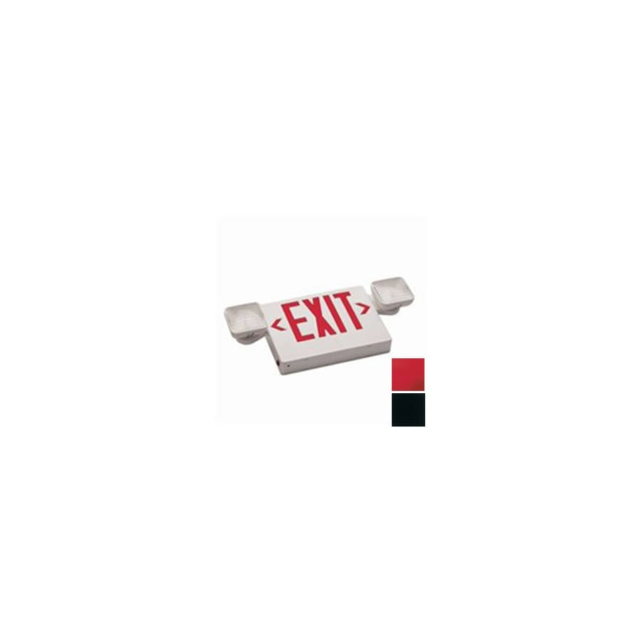 Nicor Lighting Red Incandescent Hardwired Exit Light