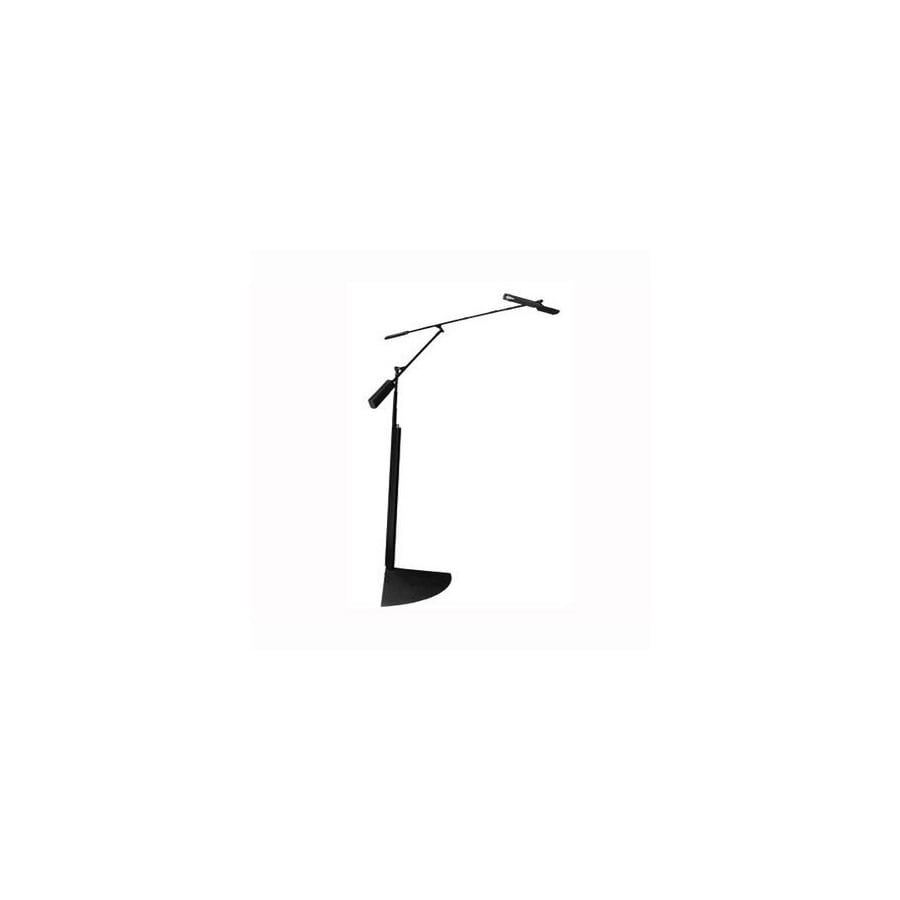 Gen-Lite 80-in Matte Black LED Indoor Floor Lamp with Shade
