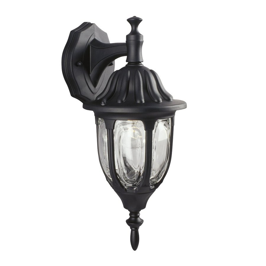 Galaxy 15-in H Black Outdoor Wall Light