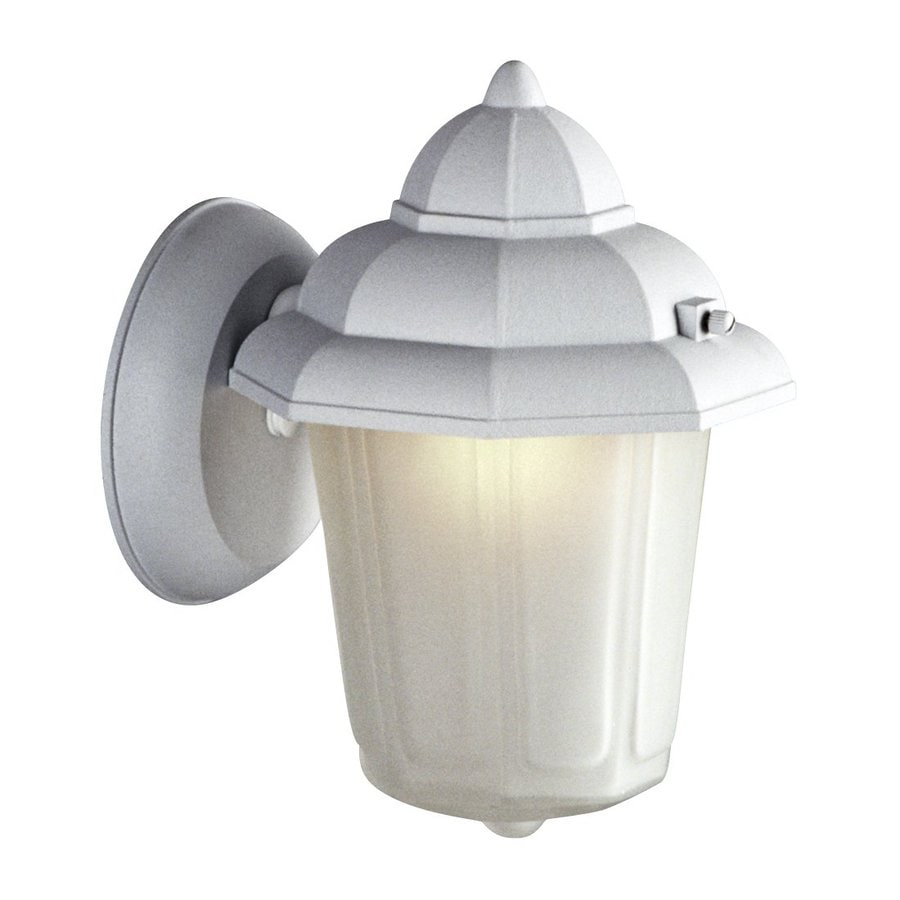 Galaxy 9-in H White Outdoor Wall Light