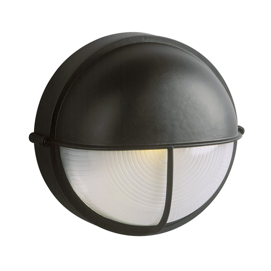 Galaxy Marine 10.25-in H Black Outdoor Wall Light