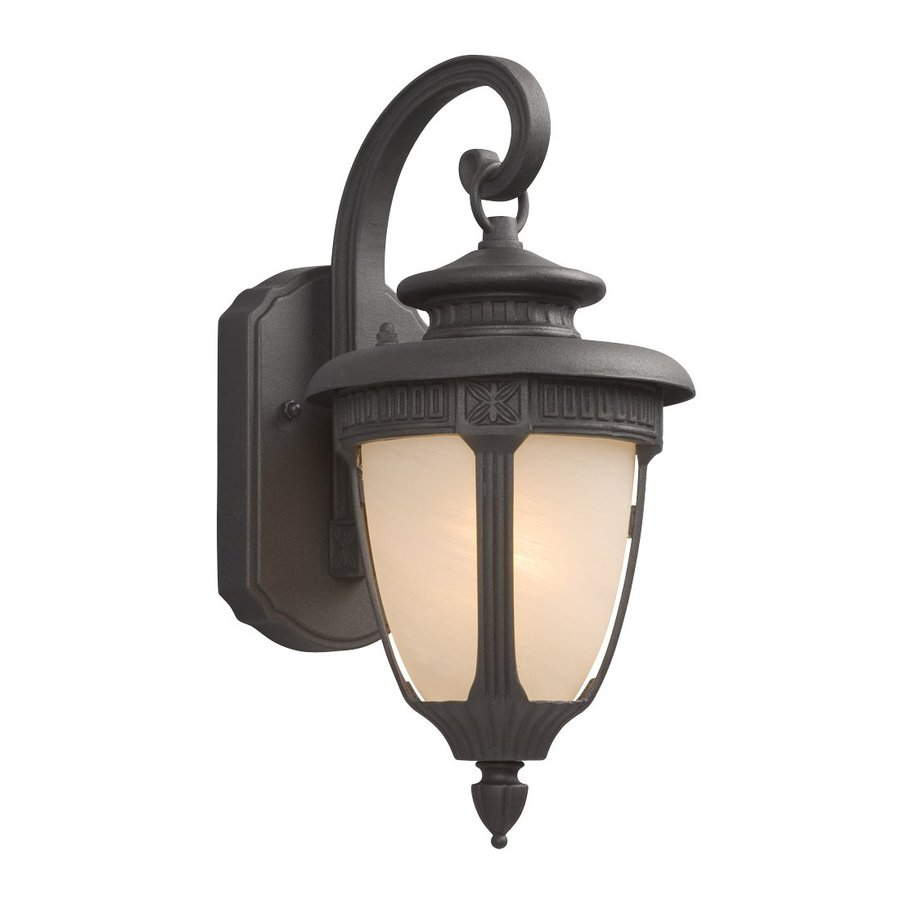 Galaxy 14.5-in H Black Outdoor Wall Light