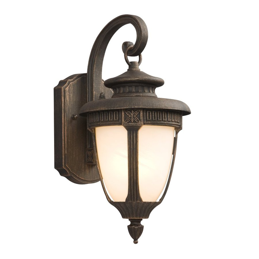 Galaxy 14.5-in H Royal Bronze Outdoor Wall Light
