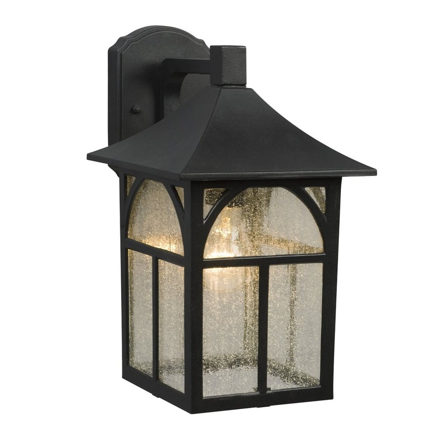 Galaxy 14.25-in H Black Outdoor Wall Light