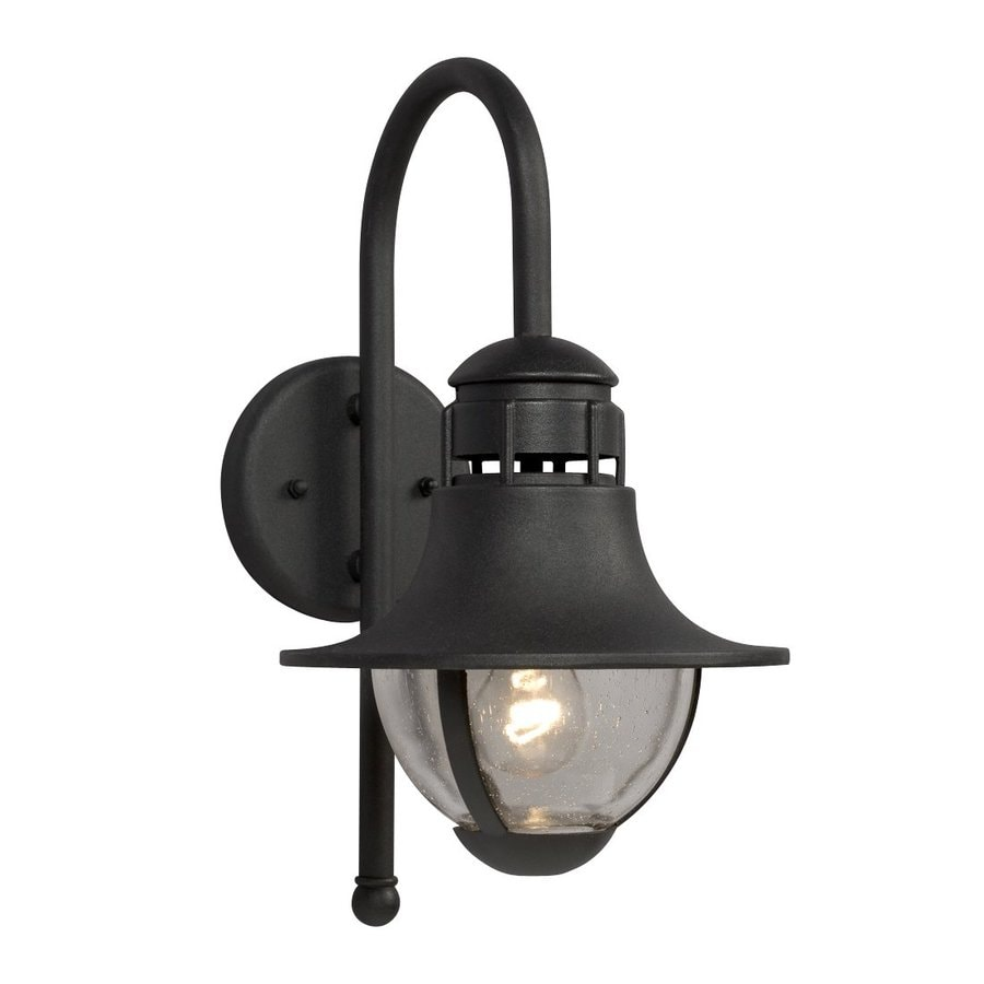 Galaxy 13.75-in H Black Outdoor Wall Light
