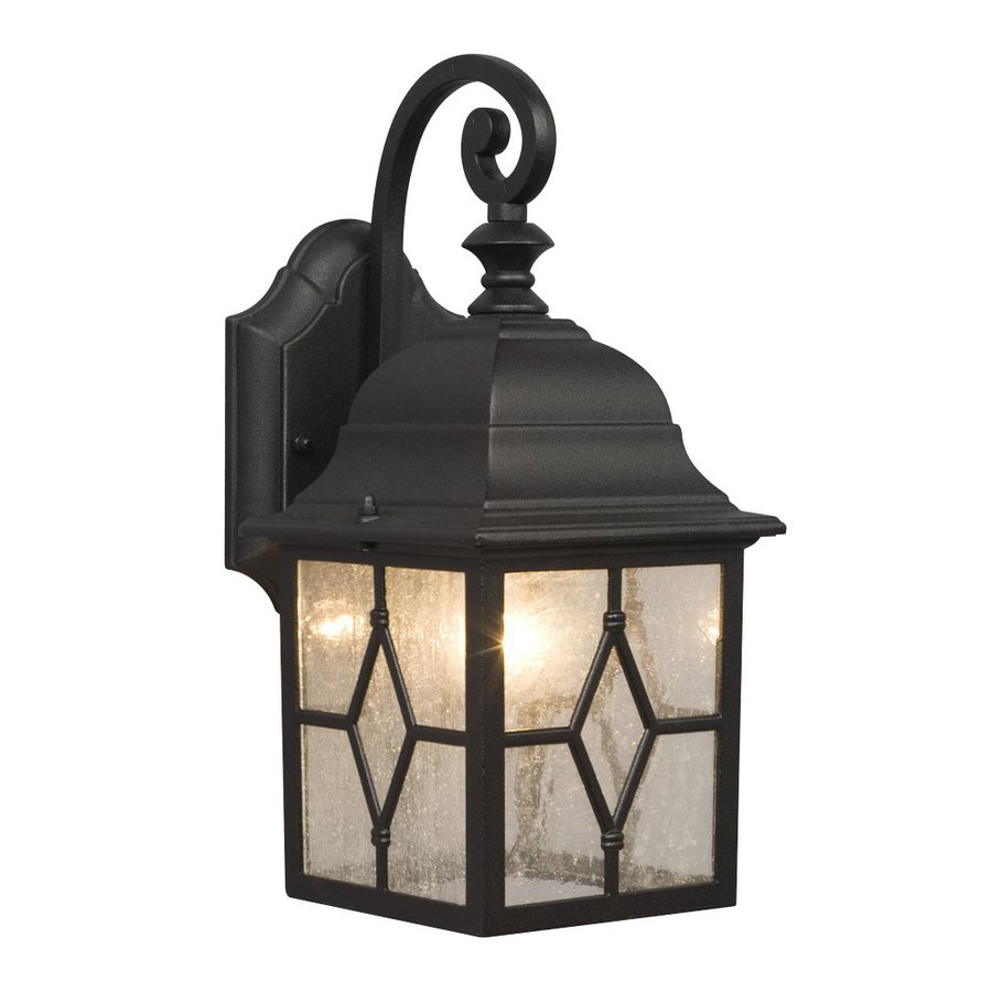 Galaxy 12.5-in H Black Outdoor Wall Light