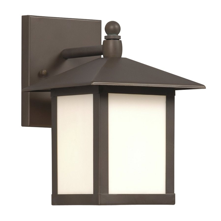 Shop Galaxy 9-in H Old Bronze Outdoor Wall Light at Lowes.com