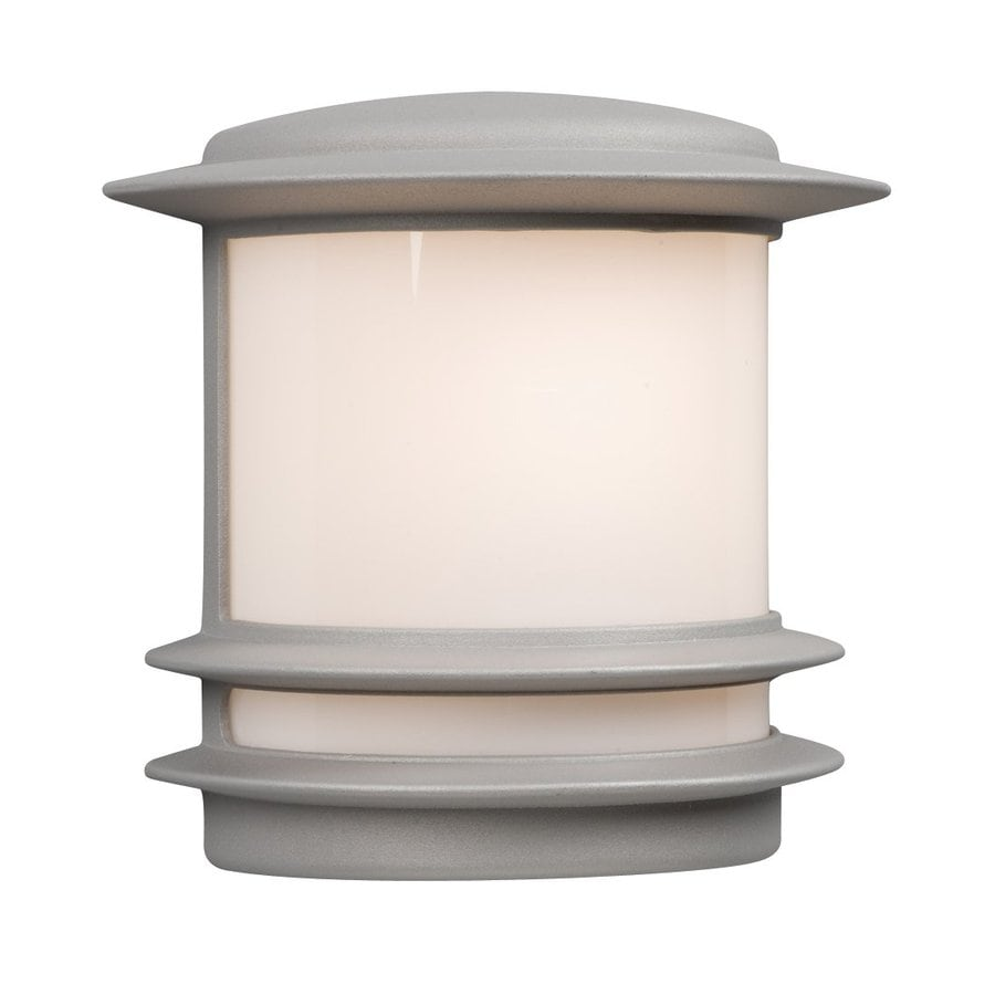 Silver Picture Wall Lights : Shop Galaxy 9.5-in H Matte Silver Outdoor Wall Light at Lowes.com