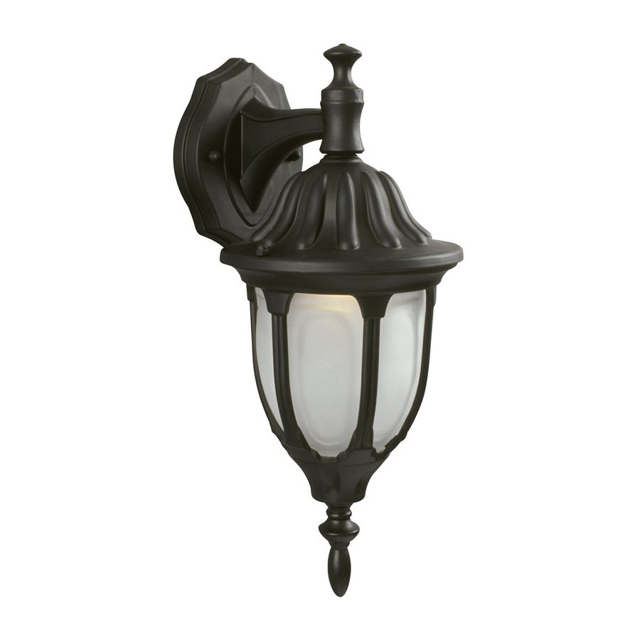 Galaxy 14.961-in H Black Outdoor Wall Light