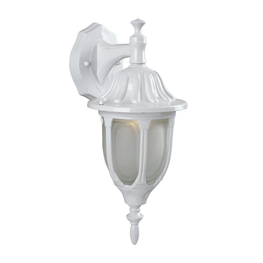 Galaxy 14.961-in H White Outdoor Wall Light
