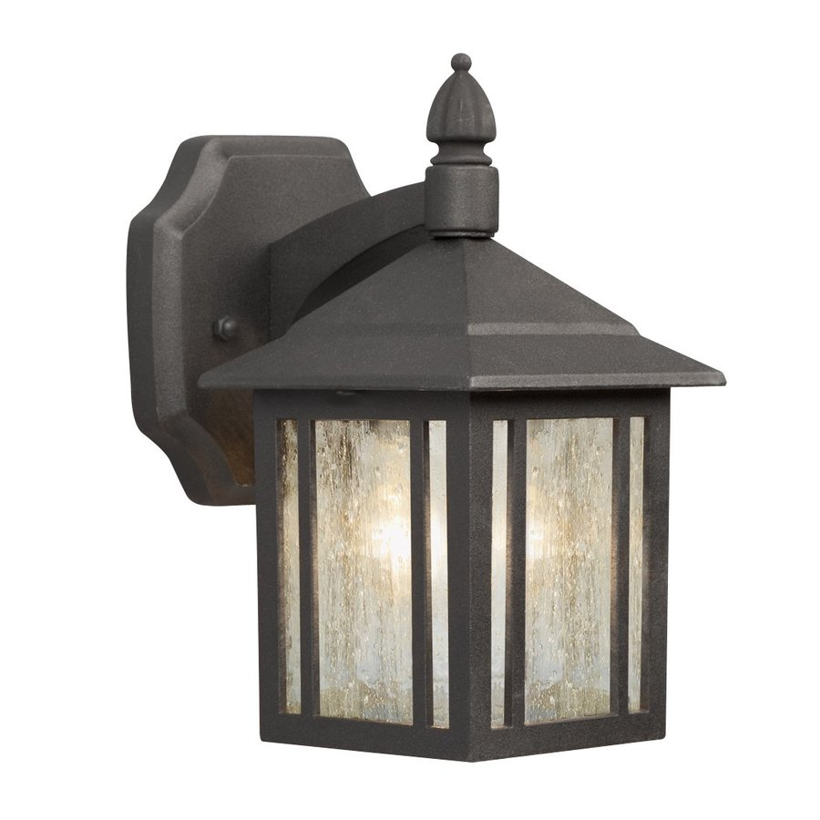 Galaxy 9-in H Black Outdoor Wall Light