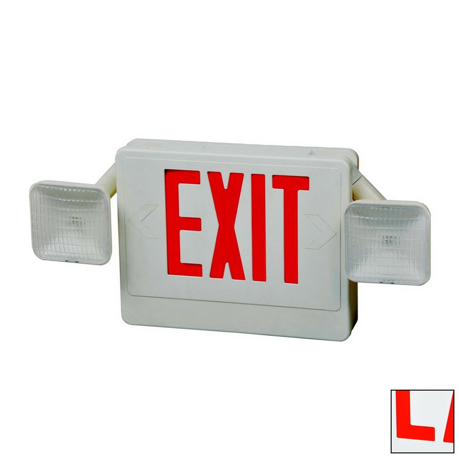 Shop Morris Products Red Led Hardwired Exit Light At