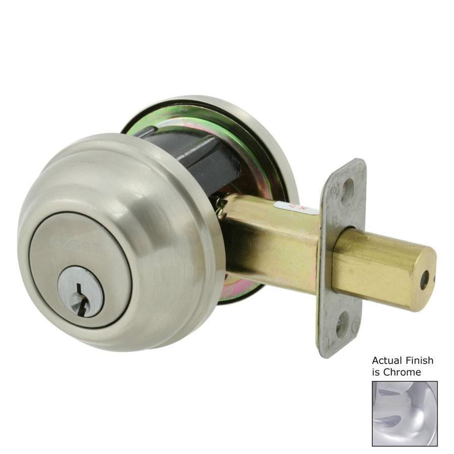 The Delaney Company Solid Brass Chrome Single-Cylinder Deadbolt