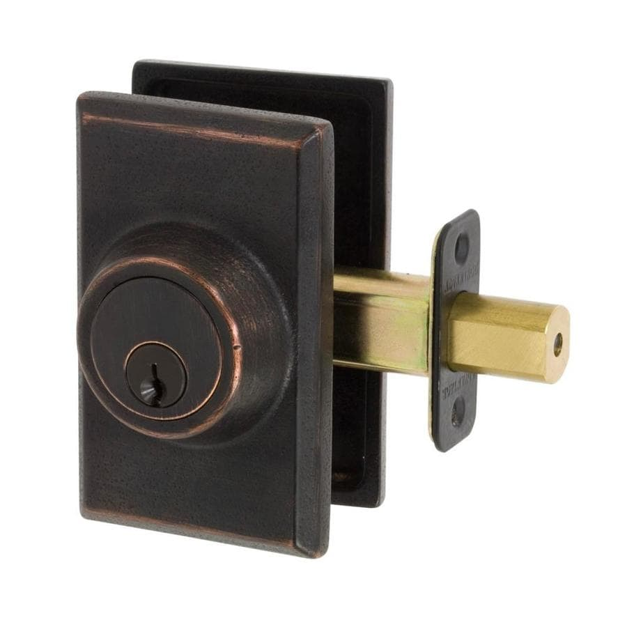 The Delaney Company Sandcast Aged Bronze Single-Cylinder Deadbolt