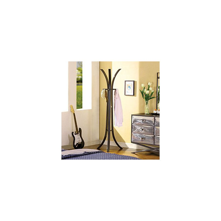 Furniture of America Metro Gun Metal Gray 3-Hook Coat Stand