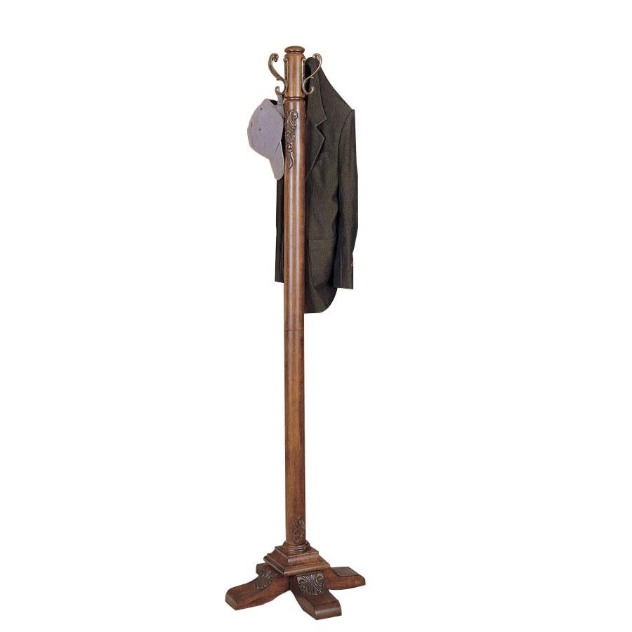 Powell Woodbury Mahogany 4-Hook Coat Stand