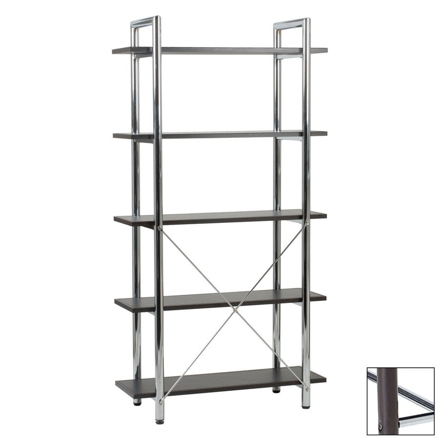Eurostyle Laurence Brown 68-in 5-Shelf Bookcase