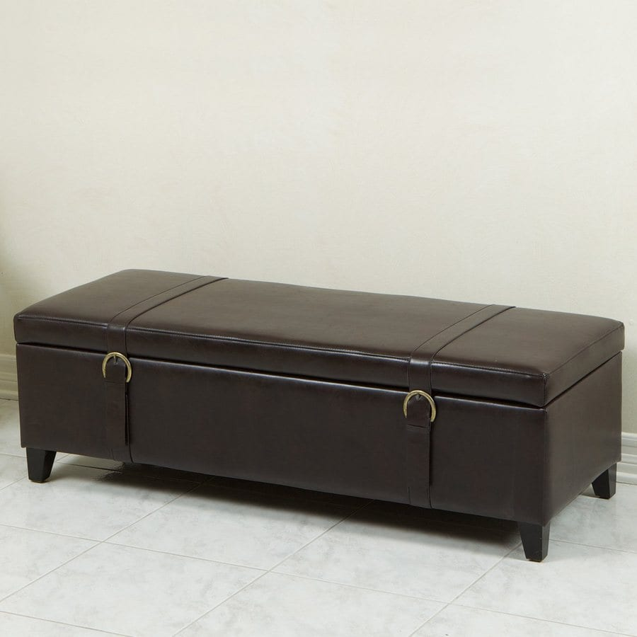 Best Selling Home Decor Brown Rectangle Storage Ottoman