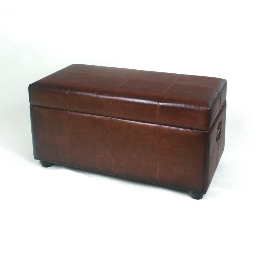 shop international caravan brown rectangle storage ottoman