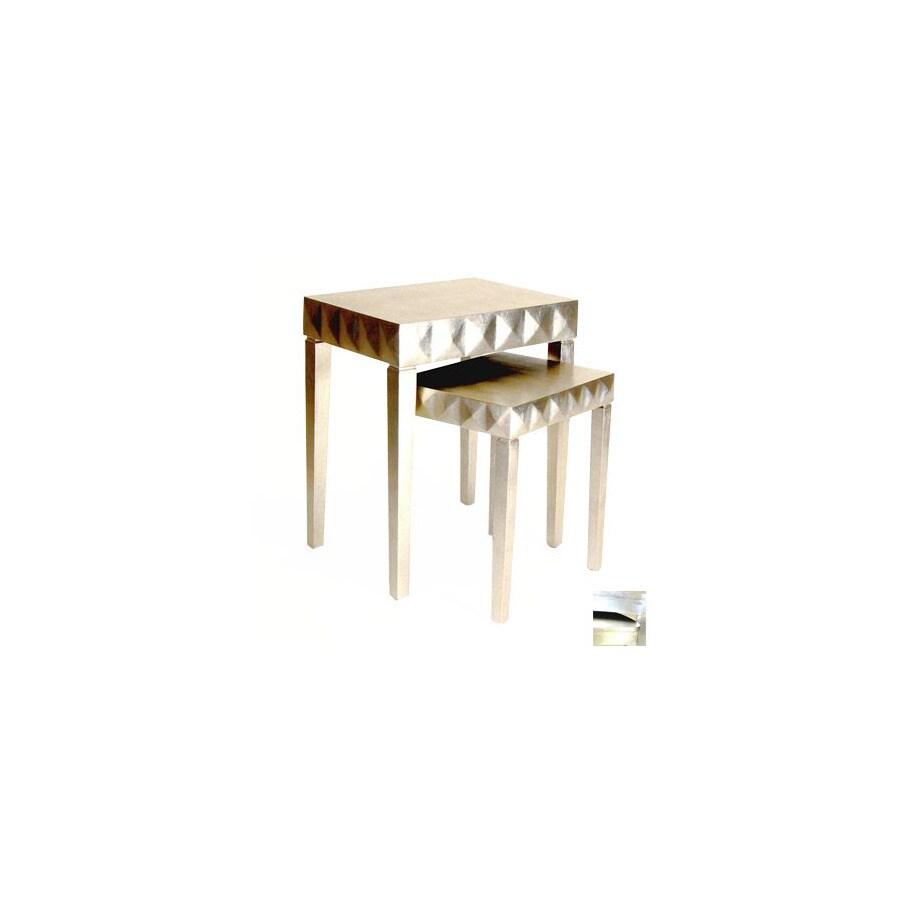 Shop Wayborn Furniture Silver Leaf Accent Table Set At