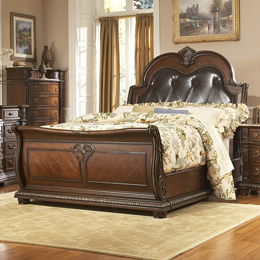 Homelegance Palace Rich Brown King Sleigh Bed