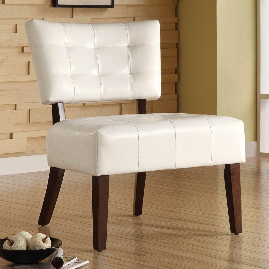 Homelegance Warner White Accent Chair