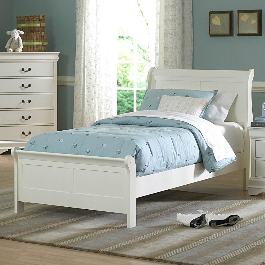 Homelegance Marianne White Twin Sleigh Bed