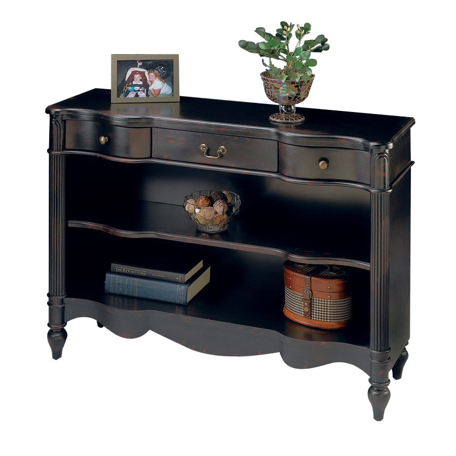 Butler Specialty Plantation Plum Black 42-in W x 33-in H x 13-in D 2-Shelf Bookcase