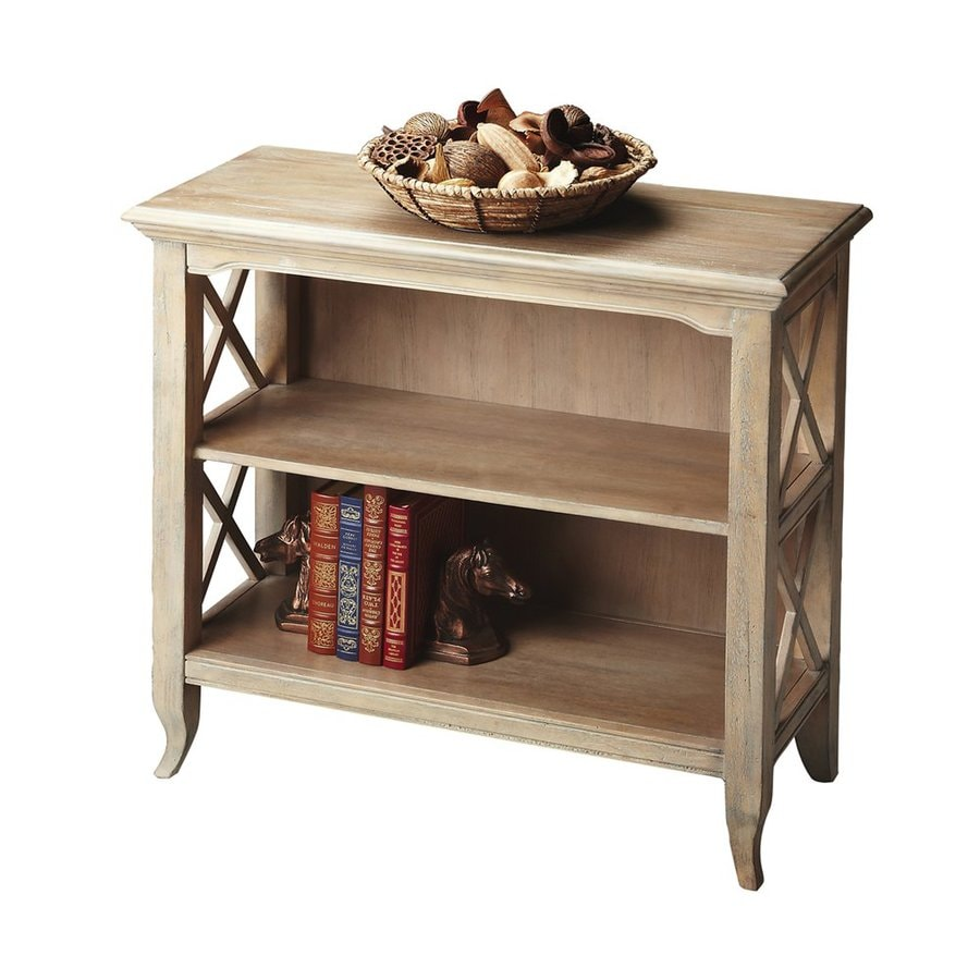 Butler Specialty Masterpiece Driftwood 30.25-in 2-Shelf Bookcase