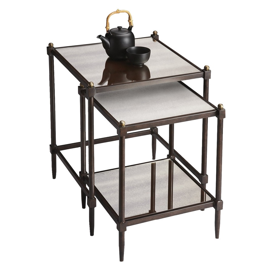 Butler Specialty Metalworks Pewter Metal Accent Table Set