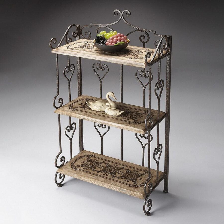 Butler Specialty Metalworks 45-in 3-Shelf Bookcase