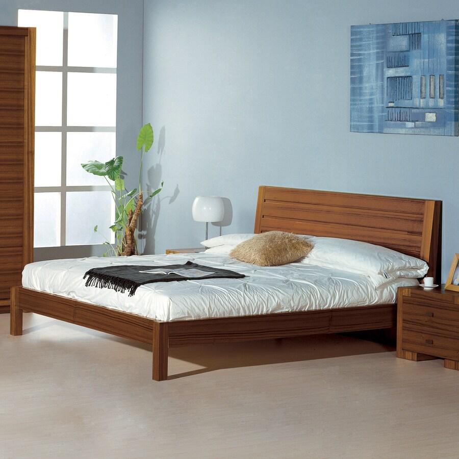 BH Design Alpha Teak Queen Platform Bed