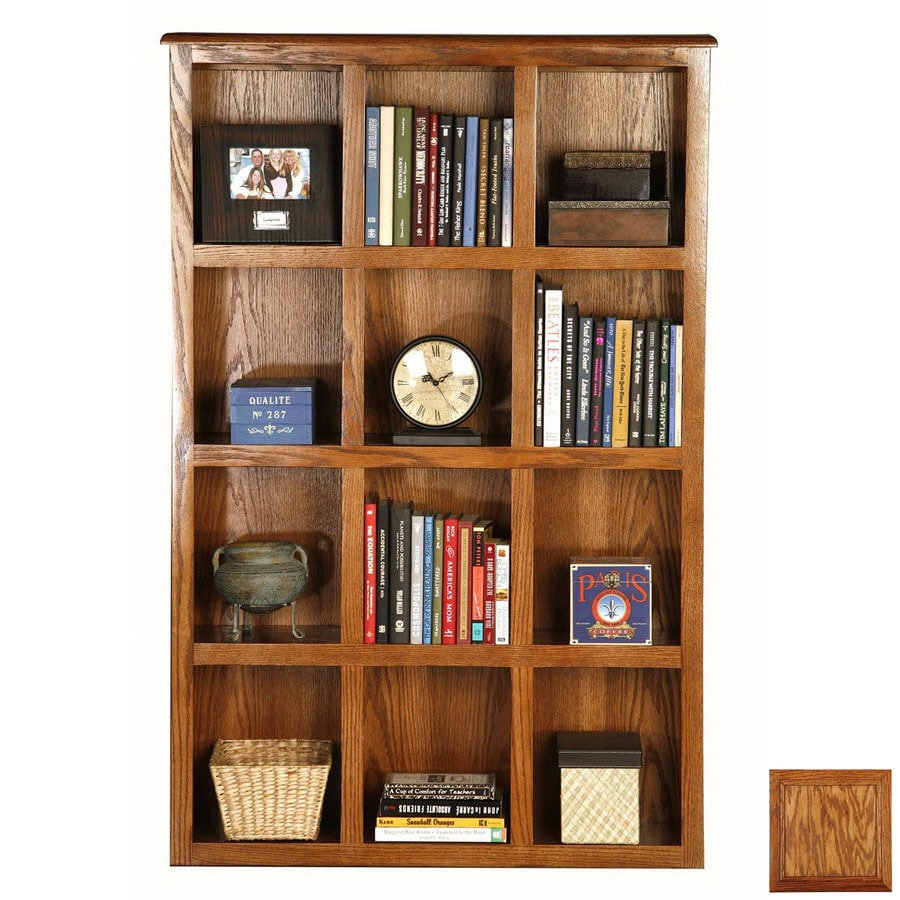 Eagle Industries Classic Oak Medium Oak 55.5-in 12-Shelf Bookcase