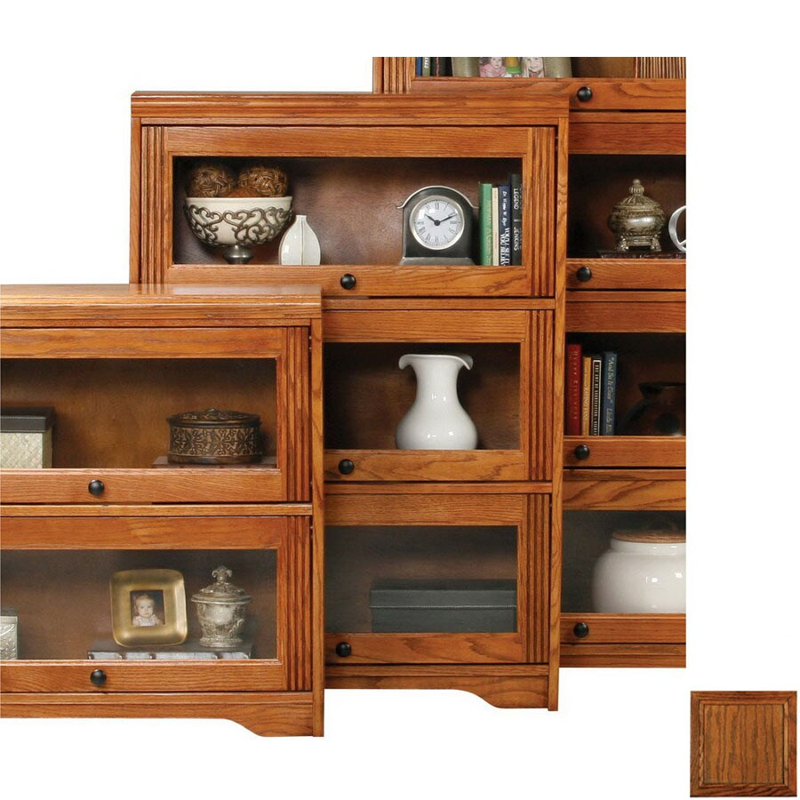 Eagle Industries Oak Ridge Dark Oak 46-in 3-Shelf Bookcase