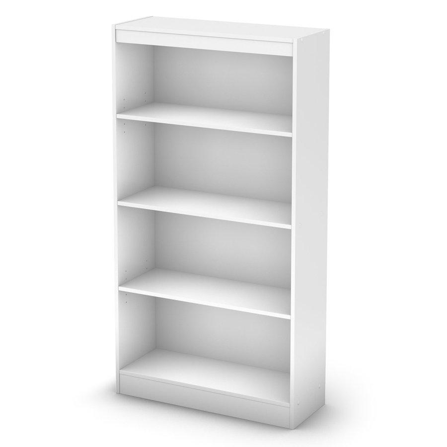 South Shore Furniture Pure White 58-in 4-Shelf Bookcase